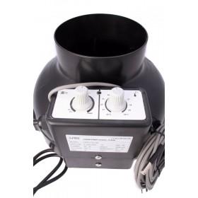 NTS UFO Fan 125RT, 0-430m3/hod,82W, regulace otáček a termostat