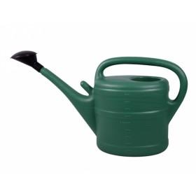 Konev s růžicí plastová tmavě zelená 10l