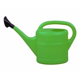 Konev s růžicí plastová zelená 5l