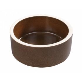 Krmítko keramické hnědé d20cm