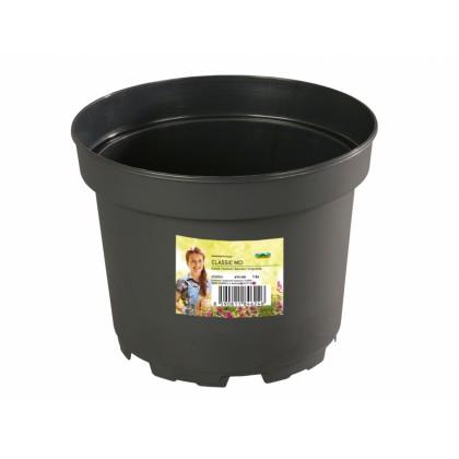 Květník CLASSIC MCI lehčený plastový černý d29cm10l