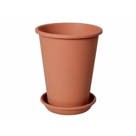 Květník KONIS s podmiskou plastová terakota d24cm