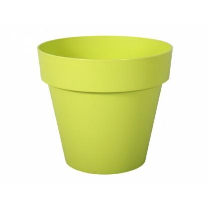 Květník MITU plastový světle zelený lesklý d16x14cm