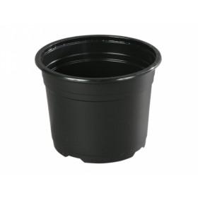 Květník PREMIUM VCD lehčený plastový černý d19cm