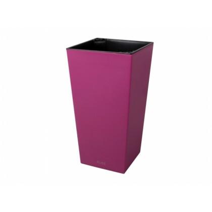 Obal na květník ELISE plast fialovo růžový matný 15x15x26cm