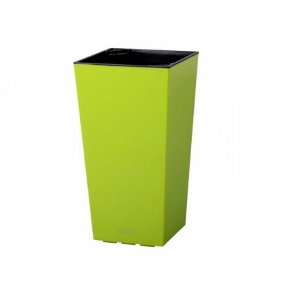 Obal na květník ELISE plast zelený lesklý 20x20x36cm