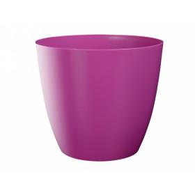 Obal na květník ELLA plastový fialovo růžový lesklý d18x16cm