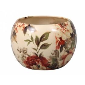 Obal na květník MANES ROSA keramický béžový lesklý d11x10m
