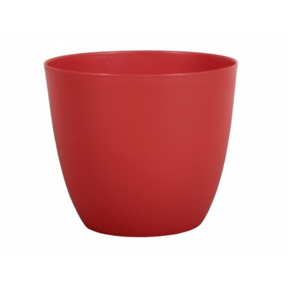 Obal na květník PATRICIE plastový červený d11x10cm