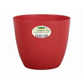 Obal na květník PATRICIE plastový červený d25x22cm