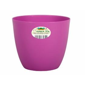 Obal na květník PATRICIE plastový fialovo růžový d15x13cm