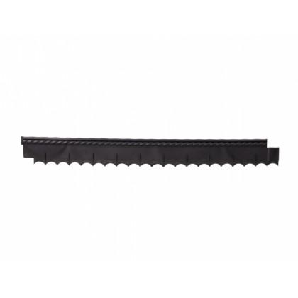Obruba GARDEN BRAID s okrasným pásem černý 0,12x1,12m