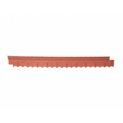 Obruba GARDEN BRAID s okrasným pásem terakota 0,12x1,12m