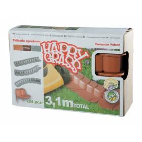 Obruba HAPPY GARDEN plastová terakota 3,1m 24ks