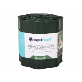Obruba plastová tmavě zelená 9x0,15m
