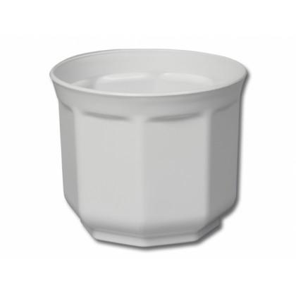 Obal na květník TINO plastový bílý d30x25cm