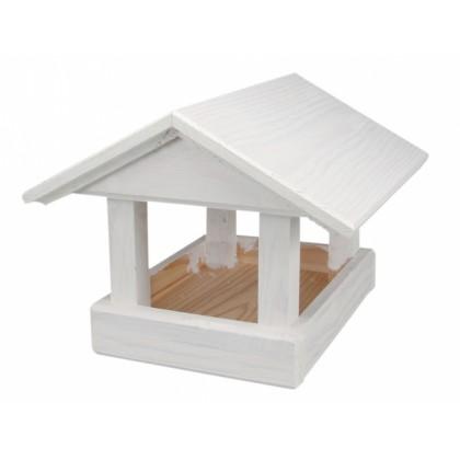 Krmítko č.17 dřevěné bílé
