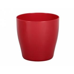 Obal na květník LIVING plastový červený d25x25cm