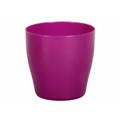 Obal na květník LIVING plastový fialovo růžový d25x25cm