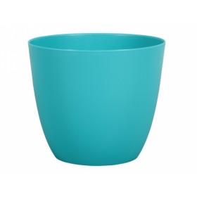 Obal na květník PATRICIE plastový modro zelený d25x22cm
