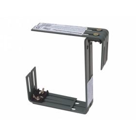 Držák truhlíku nastavitelný kovový dvojitý antracitový 2ks