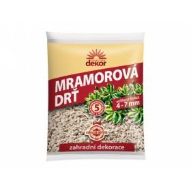 Drť mramorová DEKOR 4-7mm 5l