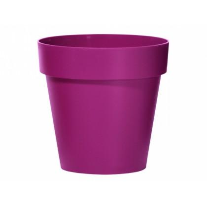 Obal na květník CUBE plastový fialovo růžový matný d30x27cm