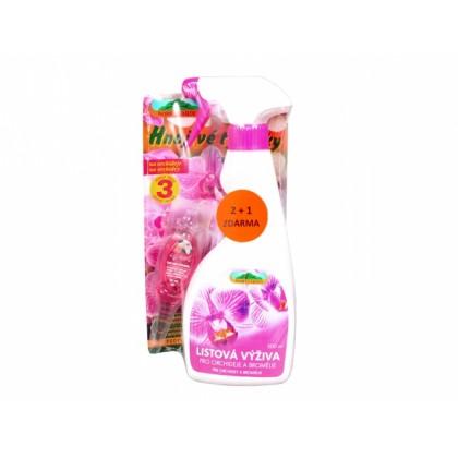 Set ORCHIDEJ:tyčinky+listová výživa+hnojivo Orchid Strong