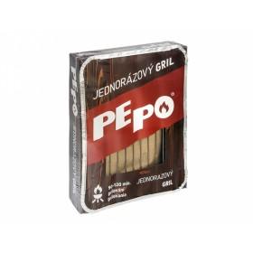 Gril PE-PO jednorázový + grilovací brikety