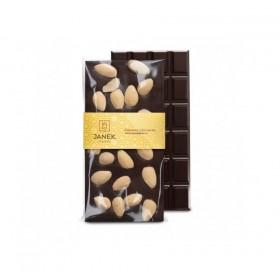 Hořká čokoláda s mandlemi (105g) - Janek