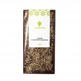 40% mléčná čokoláda s konopným semínkem (70g) - Cannapio