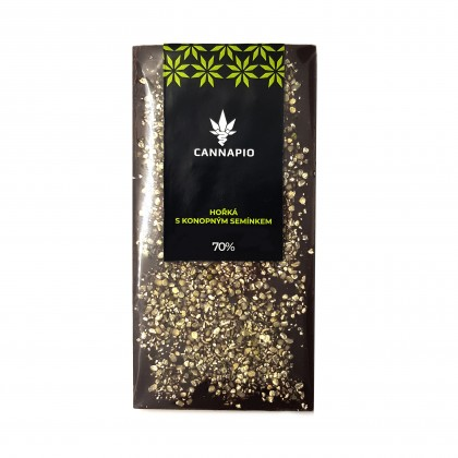 70% hořká čokoláda s konopným semínkem (70g) - Cannapio