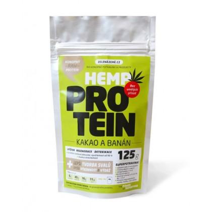 Konopný protein kakao/banán (125g) - Zelená Země