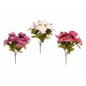 Květina PIVOŇKA KVĚT 9květů mix 40cm