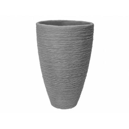 Obal na květník CORD plastový tmavě šedý d40x60cm
