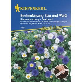 Květinová směs - Lemování záhonu modro-bílá
