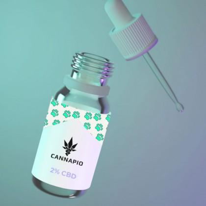 CBD olej pro zvířata 2% - 10ml Cannapio