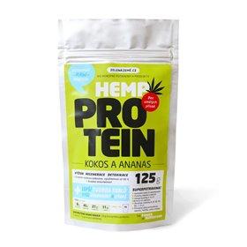 Konopný protein kokos s ananasem 125g, Zelená Země