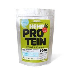 Konopný protein kokos s ananasem 1kg, Zelená Země