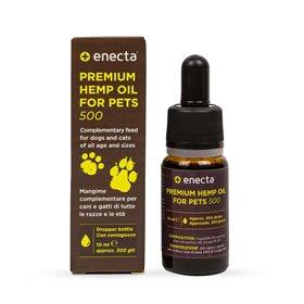 Enecta Prémiový CBD olej pro zvířata 500 mg, 10 ml