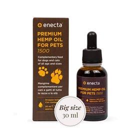 Enecta Prémiový CBD olej pro zvířata 1500 mg, 30 ml