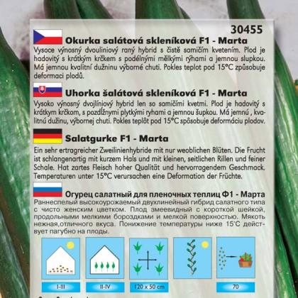 Okurka salátová F1, skleníková - Marta