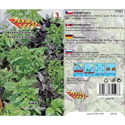 Bazalka mix - směs odrůd - 0,4g