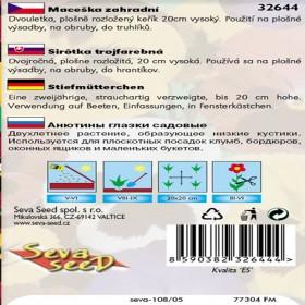 Maceška zahradní-Schweizer riesen - semena 0,2 g